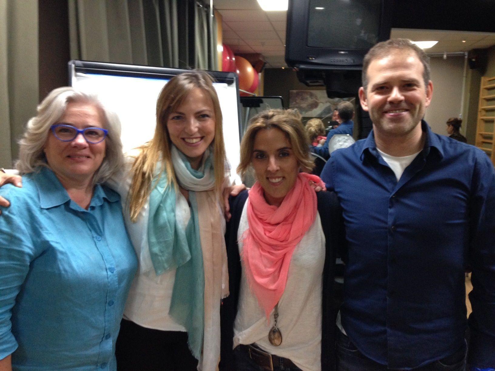 MªAngeles Jové, Lucía Galán, Andrea Zambrano y Jaume Roset